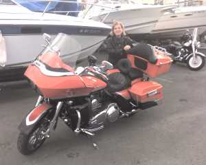 Ellie & the Harley Road Glide