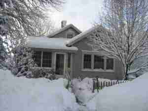 My House Under Snow